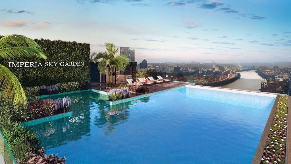 Bể bơi vô cực tại Chung cư Imperia Sky Garden Minh Khai