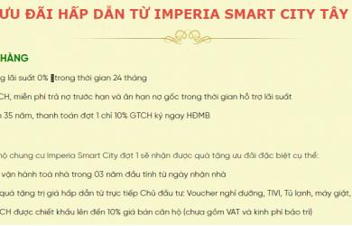 Chính sách ngân hàng cùng quà tặng ưu đãi từ Imperia Smart City