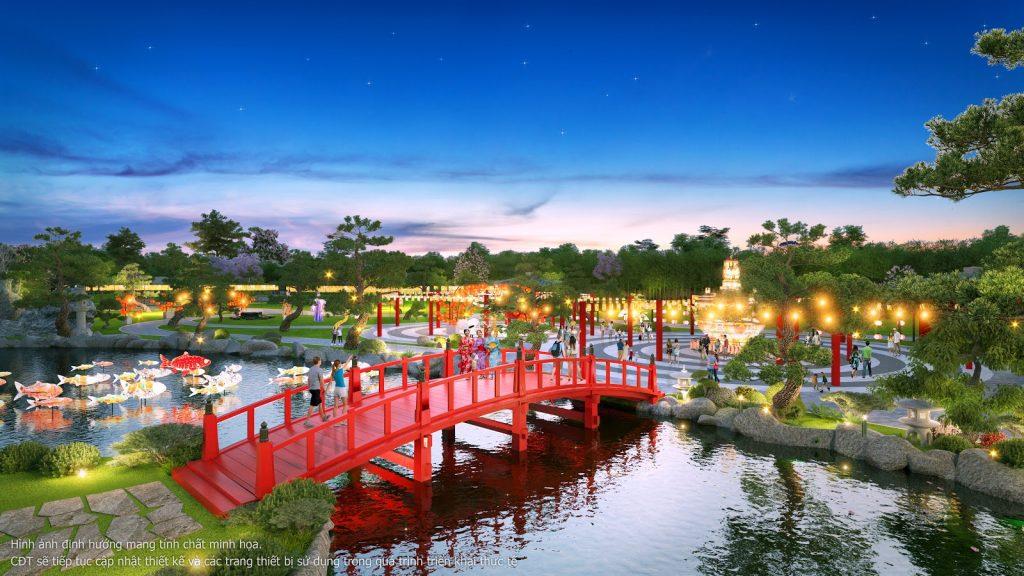 Khu vườn Nhật bên cạnh dự án