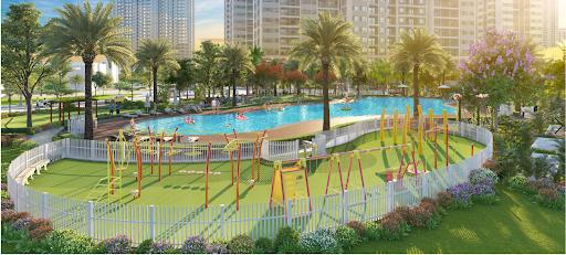 Bể bơi cùng khu vui chơi trẻ em
